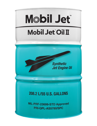 Mobil Jet Oil II outperforms competitive HTS oil